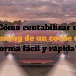 ¿Cómo contabilizar un renting de un coche de forma fácil y rápida?